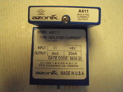 A611 Azonix Isolated Current Output In:0 t0 +5  Out:4-20ma
