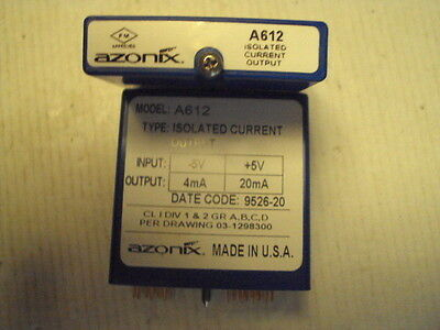 A612 Azonix Isolated Current Output  In -5 to +5V  Out:4-20ma