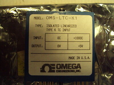 Omega OM5-LTC-K1 Isolated Linearized Type K T/C Input to 1000C; out 0 to +5 V
