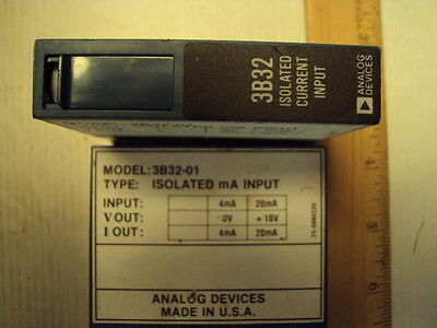 3B32-01 Analog Devices Isolated ma Input, 4-20ma in-out