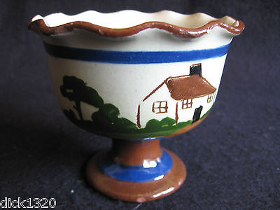 ART DECO TORQUAY/LONGPARK PEDESTAL SUGAR BOWL Be aisy with tha sugar c.1930's