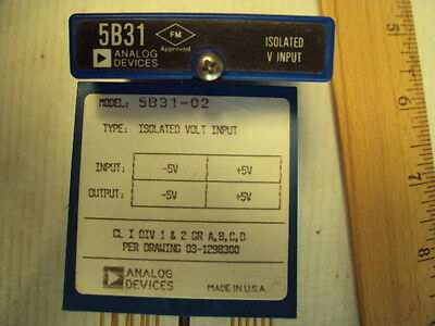 5B31-02 Analog Devices Isolated Voltage Input In:-5 to +5V  Out:-5 to +5V