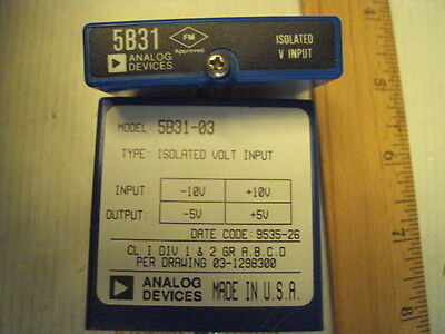 5B31-03 Analog Devices Isolated Voltage Input In: -10 to +10V:  Out: -5 to +5V