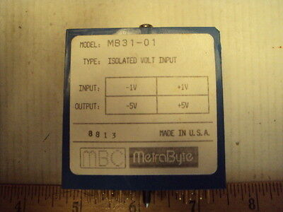 MB31-01 Metrabyte Isolated Volt Input -1 to +1V, Out:-5 to +5 V