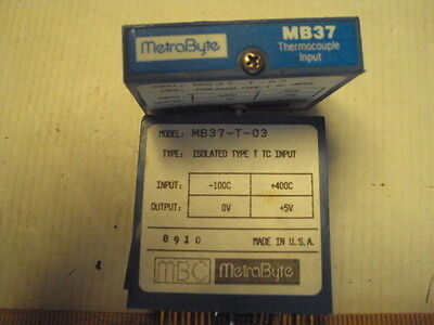 MB37-T-03 Metrabyte Type T thermocouple -100 to +400C, Out: 0 to +5V