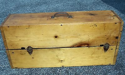 Antique Refinished Wood Tool Box