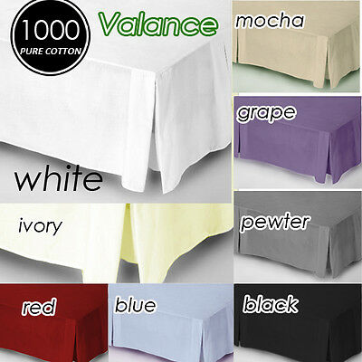 1000TC Egyptian Cotton Collection Quality Valance King/Queen Size Multi-Colours