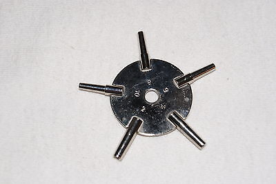 Nickelled  5-Prong Watch Key Sizes 2,4,6,8,10  New Watch Parts
