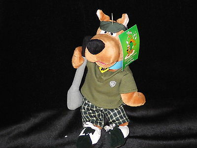 Scooby golf bean bag plush Warner Store Hanna Barbera new with tags retired