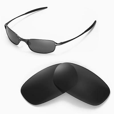 bdb1a36dea New Walleva Polarized Black Replacement Lenses For Oakley Square Wire 2.0