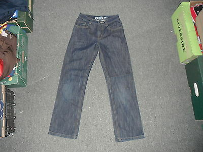 "Denim Co straight Fit Jeans W 25"" L 26"" Faded Dark Blue Boys 11/12 Yrs Jeans"