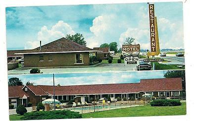 Town & Country Motel & Restaurant Greenfield IN Hancock County Postcard 041513