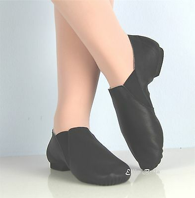EllisBella Jazz shoe-New Black split sole Jazz booties foot14.6 to 25.1 cm