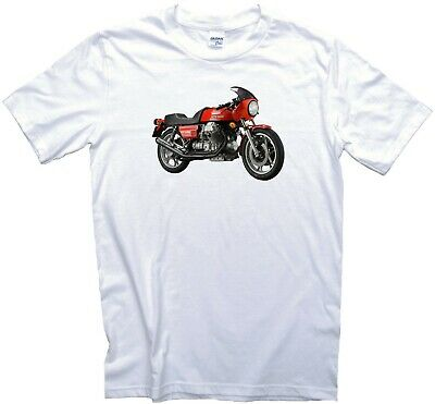 Moto Guzzi Le Mans Motorcycle T-Shirt. Gents, Ladies & Kids Sizes. Biker Vintage