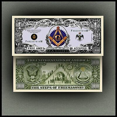 Freemason Masonic Million Dollar Novelty Bill Money