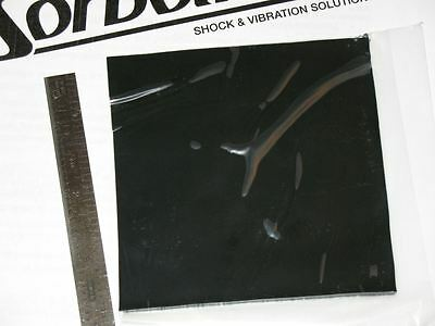 """SORBOTHANE SHEET 4X4x1/10"""" 100mmx100mmx2.5mm VIBRATION ISO RUBBER PAD SQUARE 40D"""