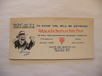 Vtg Advertising Blotter - South Side Roofing Co. Milwaukee WI