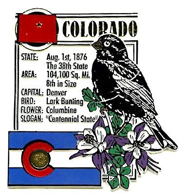 Colorado The Centennial State Montage Fridge Magnet
