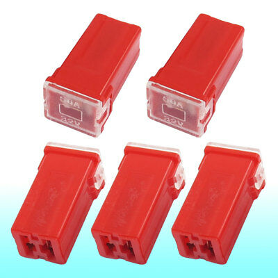 Auto Car Straight Female Terminals Link PAL Fuse 50A Red 5 Pcs