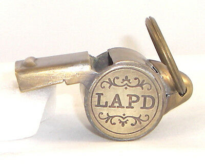 Solid Brass Working LAPD Whistle