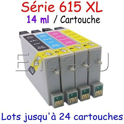 Cartouches NON OEM EPSON encre pour stylus D DX - TO611 à TO614 ( LOT TO615 )