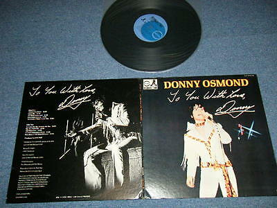 DONNY OSMOND (BROTHERS) Japan 1972 LP TO YOU WITH LOVE
