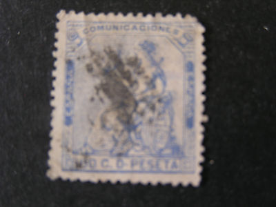 "*SPAIN, SCOTT # 197, 50c. VALUE ULTRA 1873 1ST REPUBLIC  ""ESPANA"" ISSUE USED"