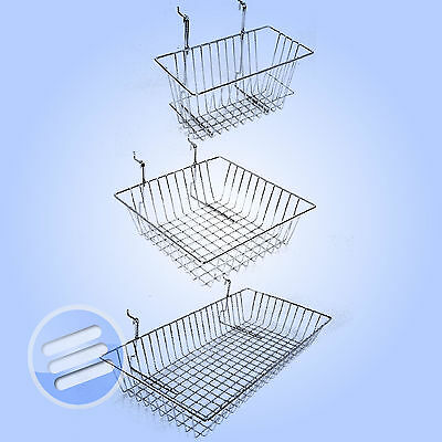 Heavy Duty! Gridwall Mesh Retail Shop Display Storage Shelving Basket/ Baskets
