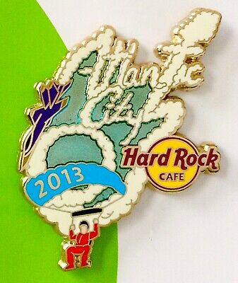 2013 Hard Rock Cafe Atlantic City Airshow Jet/golden Knight/skywriting Le Pin