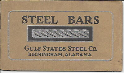 Catalog, Gulf States Steel Co., Barb Wire, Steel Bars, Etc., c1920