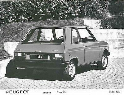 1979 Peugeot 104 Coupe ZL ORIGINAL Factory Photo aa1002-166XAC
