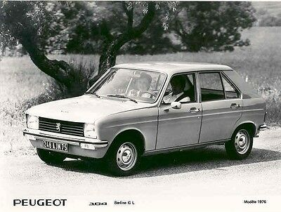 1976 Peugeot 104 Berline GL ORIGINAL Factory Photo aa2657-X339C1