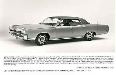 1969 Lincoln Marquis & Marquis Brougham ORIGINAL Factory Photo aa3049-1S6YW8