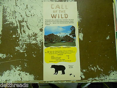 Vintage Travel Brochure - CALL OF THE WILD MUSEUM - 1960s - Gaylord, MI
