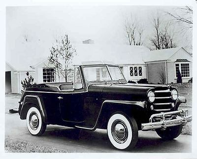 1950 Jeepster Jeep Willys Factory Photograph  aa5474-OWR2F9