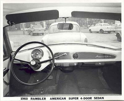 1960 AMC Rambler American Interior ORIGINAL Factory Photo H134-CIX6X2