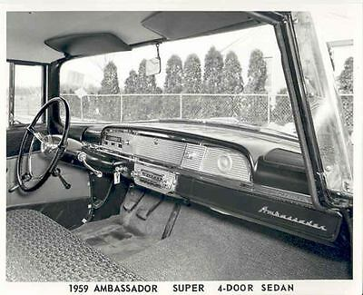 1959 AMC Rambler Ambassador Interior ORIGINAL Factory Photo H21-24EWZW