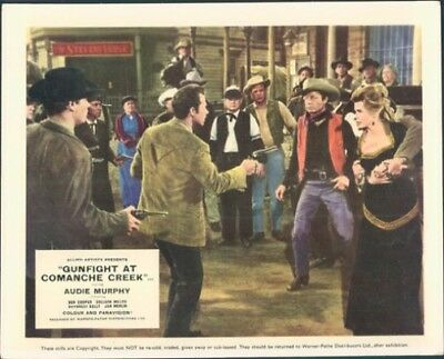 Gunfight At Comanche Creek Audie Murphy Deforest Kelley Coleen Miller Lobby Card
