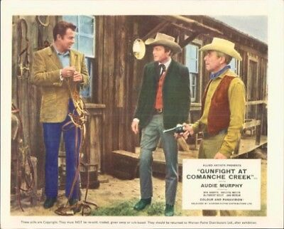 Gunfight At Comanche Creek Audie Murphy Deforest Kelley Rare Lobby Card