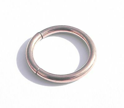 GOLD PLATED 14G SEGMENT RING HOOP BODY ear 1.6mm X 10mm