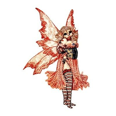 Amy Brown Flirt Fairy Licensed Embroidered Iron On Applique Patch p821