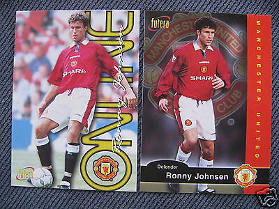 RONNY JOHNSEN SOCCER CARD MANCHESTER UNITED* LOT OF 2*NORWAY