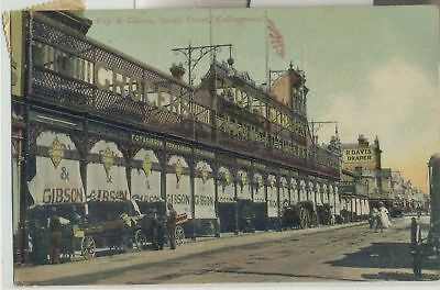 SCARCE postcard of Smith Street Collingwood showing Foy & Gibson building, trams