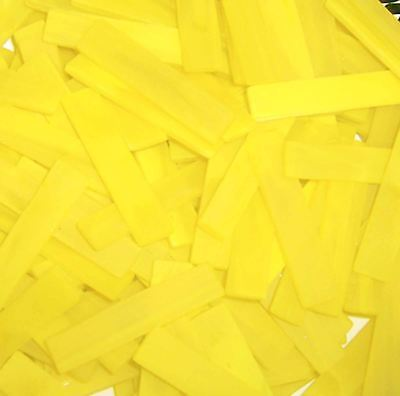 "40 2"" Pineapple Yellow Tumbled Border Stained Glass Mosaic Tiles"