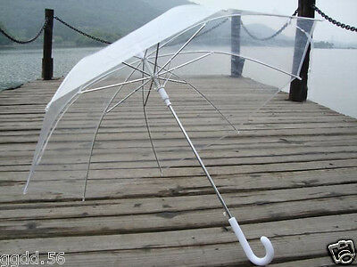 Transparent Clear Automatic Operation Birdcage Wedding parasol/Umbrella Jf725
