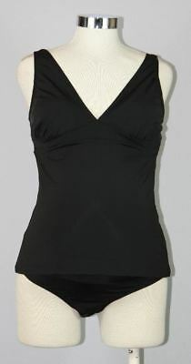 New Japanese Weekend Maternity Black Swim Suit Tankini Swimsuit Top Only M 10/12