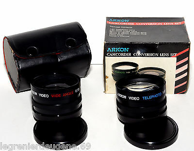 Kit d'Objectifs de Conversion pour Caméscope ARKON Camcorder Conversion Lens Set