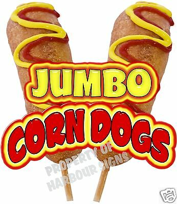 """Corn Dogs Jumbo Decal 14"""" Concession Food Truck Trailer Vinyl Sticker Sign"""
