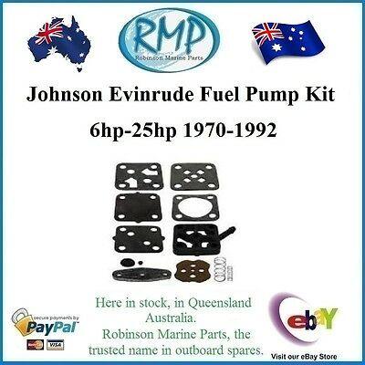 A Brand New Johnson Evinrude Fuel Pump Kit 6hp-thru-25hp 1970-1992 # 393088..
