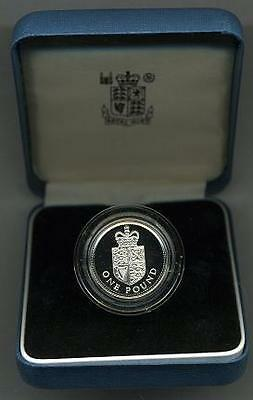 Great Britain KM-954a 1988 Silver Pound Proof Cat. Price $35.00